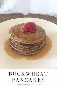Buckwheat Pancakes - Instant Loss - Conveniently Cook Your Way To Weight Loss - Healthy Eating Healthy Life Whole Food Diet, Whole Food Recipes, Diet Recipes, Healthy Recipes, Recipies, Blender Recipes, Healthy Foods, Buckwheat Pancakes, Homemade Almond Milk
