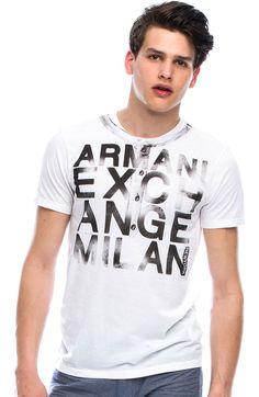 Faux Henley Logo T-Shirt - Tee Shirts - Mens - Armani Exchange Mens Tee Shirts, Boys T Shirts, My Style, Tees, Mens Tops, Clothes, Drawings, Summer, Design