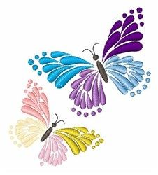 Two Butterflies Embroidery Designs, Machine Embroidery Designs at EmbroideryDesigns.com