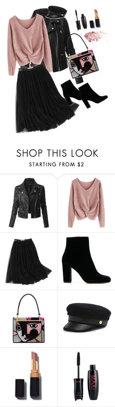 """""""Perfect autumn look"""" by esii-li ❤ liked on Polyvore featuring LE3NO, WithChic, Prada and Henri Bendel"""