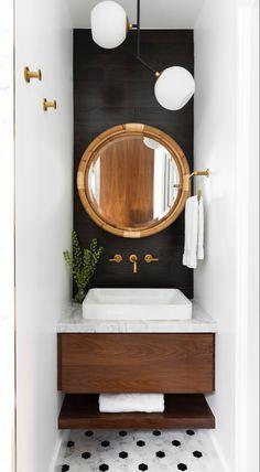 Small Bathroom Paint, Bathroom Design Small, Bathroom Interior Design, Small Bathrooms, Light Bathroom, Bathroom Designs, Small Toilet Room, Bathroom Stencil, Boho Bathroom