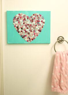 button heart DIY