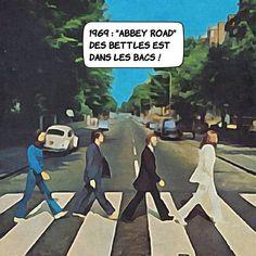 Septembre 1969 : Abbey Road' dans les bacs ! ... Dernier album des Beatles c'est aussi celui des premières fois. Première chanson cachée (''hidden track'' dans la langue de Lennon) de l'histoire du rock avec 'Her Majesty' ; première hystérie collective fondée sur les significations ésotériques d'une pochette d'album autour de la présumée mort d'une rock star - en l'occurrence Paul McCartney ; l'une des premières utilisations de synthétiseur ici un Moog acheté directement à l'inventeur dans… Abbey Road, Moog, Lennon, Pochette Album, Paul Mccartney, Beatles, Movies, Movie Posters, September