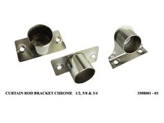 Stainless Steel Curtain Rod Brackets