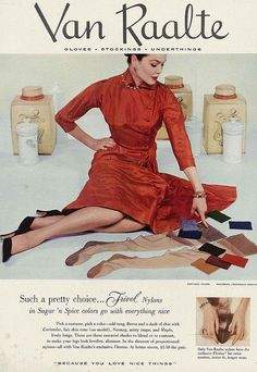 Very pretty stocking choices indeed! #vintage #hosiery #stockings #nylons #fashion #ad