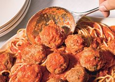 my favorite meatball recipe (with a few changes): double the recipe, but split the pork into 1/2 pork 1/2 veal so it becomes 1 lb beef, .5 lb pork, .5 lb veal)  freeze in a single layer on a cookie sheet and then put in a freezer bag.  Cook in sauce