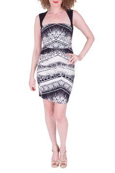 Nicole Miller Chevron Batik Washed Satin Dress $30/Week