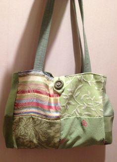 Handbag made by Pintrish from fabric samples.