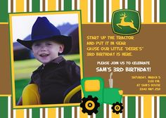 john deere tractor party ideas - Google Search
