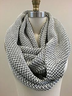 Viverano Organic Cotton Knit Infinity Loop Scarf - Non-Toxic (Grey/Blue Combo) at Amazon Women's Clothing store: