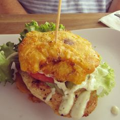 Toston chicken sandwich at Pincho Factory in Coral Gables