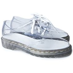 90's Clear Dr. Martens Oxfords Vinyl Lace up Shoes // 8 (6.752.685 VND) ❤ liked on Polyvore featuring shoes, oxfords, flats, footwear, dr martens shoes, clear flats, oxford flats, flat shoes and evening shoes