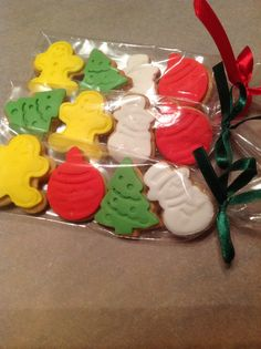 homemade christmas cookies with sugarpaste.