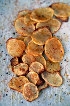 Make your own Baked Potato Chips with Paprika and Salt