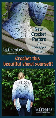 Scheepjes Whirl Pattern.  Crochet Pattern for a Scheepjes Whirl shawl.