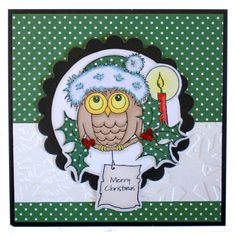 Otto Foam Mounted stamp by Hobby Art Stamps. This Gorgeous card was by Lisa Baker