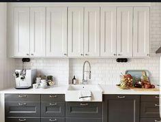 Stadshem Kitchens Black And White Kitchen Ideas Upper Cabinets Lower Cabinet