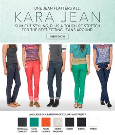 Organic with a slim cut styling, plus a touch of stretch-- it is no wonder why the Kara Jeans are our favorites!