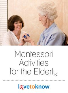 In many cases, Montessori activities for the elderly help to keep seniors with dementia happier and more productive while boosting their sense of self-worth. Nursing Home Activities, Elderly Activities, Dementia Activities, Senior Activities, Montessori Activities, Therapy Activities, Physical Activities, Physical Education, Craft Activities