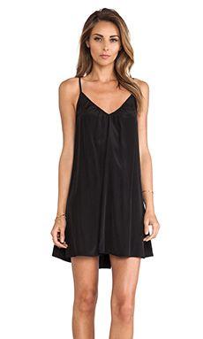 Pink Stitch Resort Mini Dress in Black | REVOLVE