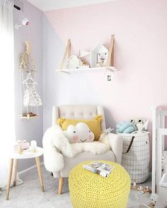 Pretty pastel spring inspired nursery decor ideas - Get pastel nursery insporation from these pretty kids rooms, with sweet colour palettes and more! Baby Bedroom, Baby Room Decor, Nursery Room, Girls Bedroom, Nursery Decor, Bedroom Wall, Nursery Ideas, Girl Nursery, Kid Decor