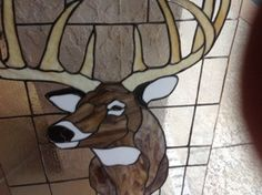 Mom's stained glass for my brother. Beautiful deer!  Awesome job Mom