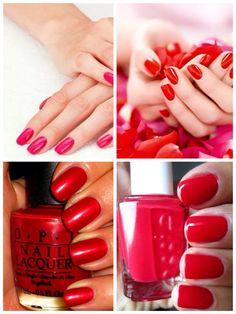 Beautiful Light And Ruby Red Nail Polish