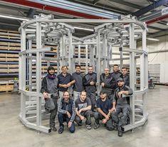 Bauer Profiltechnik schließt Projekt ab. Das Projekt zur Entwicklung eines Grundträgers der Kernfusionsanlage für das Max Planck Institut für Plasmaphysik in Garching, ist weitestgehend abgeschlossen. Max Planck, Ladder, Mechanical Engineering, Stairway, Ladders