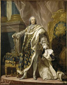 Louis XV King of France & Navarre in old age by Louis-Michel van Loo.