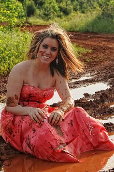 Trash the Prom Dress in Mud