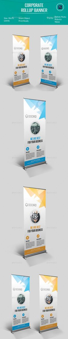 Corporate Rollup Banner Template PSD #design Download: http://graphicriver.net/item/corporate-rollup-banner/13356215?ref=ksioks