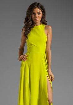 NAVEN Designer Siren Gown in Chartreuse at Revolve Clothing - Free Shipping!
