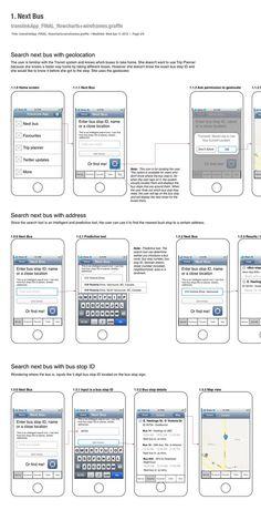 Translink App flowcharts + wireframes