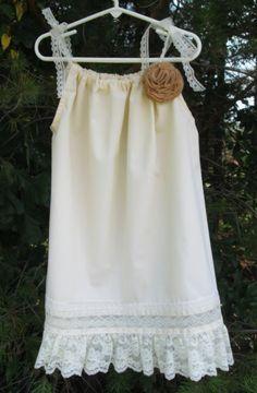 flower girl pillowcase dress - Google Search