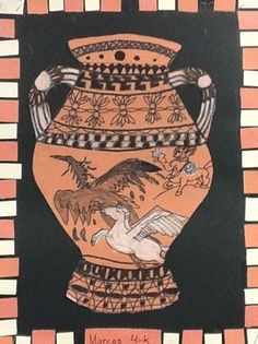 Greek Amphoras- I did this w my second graders 2 yrs ago- they looked just as good! ...( a little less detailed)