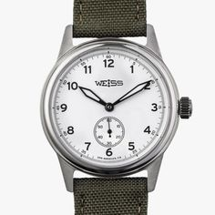 Vintage Eye for the Modern Guy: Weiss Standard Issue Field Watch - Dr Wong - Emporium of Tings. Field Watches, New Macbook, Black Oxide, Watch Companies, Inspired Homes, Vintage Watches, American, Modern, Accessories