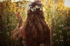 beautiful, girl, tress, hairstyle, back, lady, flowers