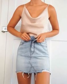 Chic Outfits – For a sunny day☀ – Moda Cute Casual Outfits, Girly Outfits, Mode Outfits, Cute Summer Outfits, Night Outfits, Stylish Outfits, Fashion Outfits, School Outfits, Outfit Ideas Summer