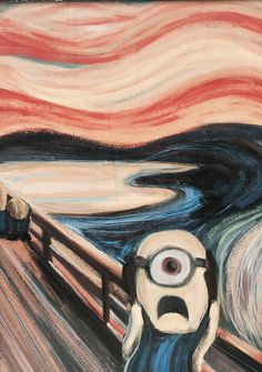 Edvard Munch's The Scream is too much for these minions to handle.