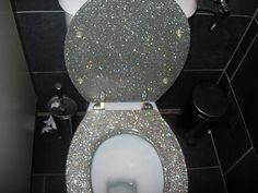 glitter toilet!!