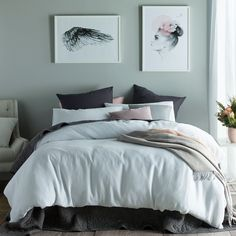 Waffle Linen Cotton White Quilt Cover Set by Accessorize