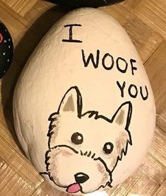 Rock art - Dog. I woof you. Ha!