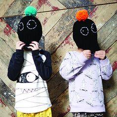 Black Boris Bobble Hat by Indikidual - Junior Edition www.junioredition.com