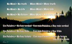 No Word... No Truth No Palabra ... No Verdad