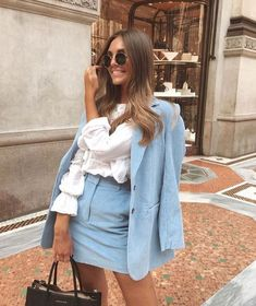 40 Casual Office Fashion Inspiration for Women 2019 – Work Fashion Blazer Outfit, Look Blazer, Fashion Mode, Work Fashion, Fashion Looks, Blue Fashion, Fashion For Women, City Fashion, Hipster Fashion