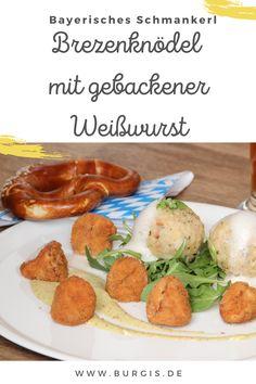 Leckeres Rezept für Brezenknödel mit gebackener Weißwurst - bayerisches Knödel-Rezept mit dem gewissen Extra füts Oktoberfest dahoam. Oktoberfest Party, Vinaigrette, Bakken, Credenzas, Simple, Vinaigrette Dressing