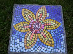 I want to make mosaic stepping stones for my back garden.