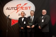 Christian Chapelle, Vice President Powertrain and Chassis Engineering, receives the ECOBEST 2012 award