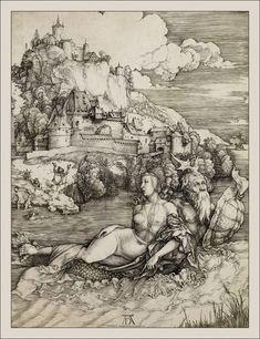 Albrecht Dürer : The Sea Monster (Metropolitan Museum of Art) アルブレヒト・デューラー Albrecht Durer, Alphonse Mucha, National Gallery Of Art, Art Gallery, Fine Art Prints, Canvas Prints, Paul Gauguin, Illustration, Sea Monsters