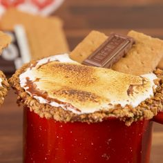 The only thing better than eating a S'mores is drinking one. #easyrecipe #dessert #drink #hotchocolate #smores